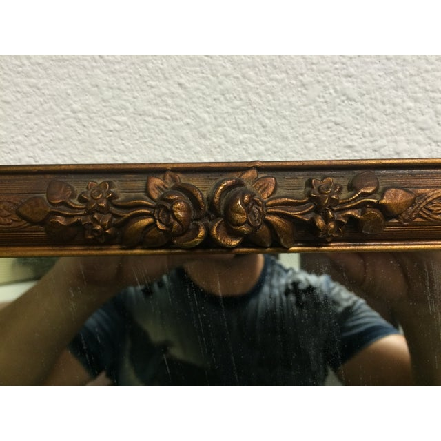 Early 1900s Ornate Hand Carved Mirror - Image 3 of 6