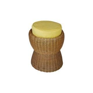 Vintage Wicker Mushroom Stool