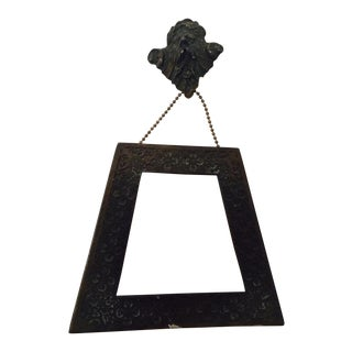 Antique Goth Memoria Morti Bronze Picture Frame