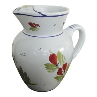 Quimper Ceramic Pitcher