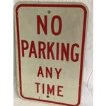 Image of Vintage No Parking Any Time Metal Road Sign