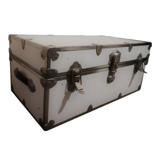 Rhino Trunk White Distressed Chest