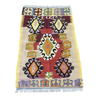 Turkish Kilim Rug - 2'11''x4'5''
