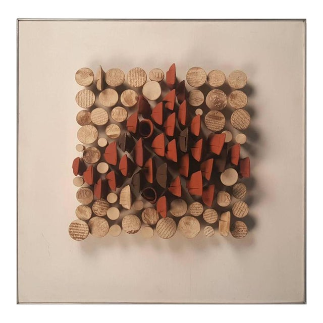 Relique III, Low Relief Abstract Ceramic Wall Sculpture by Will Farrington - Image 1 of 6