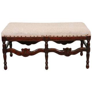 American Bench with Upholstered Seat