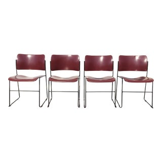David Rowland for Rowe 40/4 Stackable Chairs- Set of 4