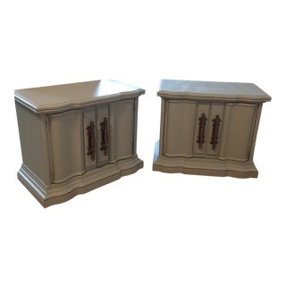 Restored Vintage Wooden Cabinets - A Pair