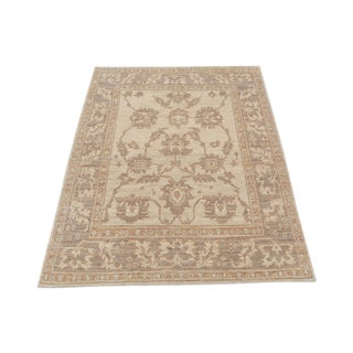 Classic Traditional Style Brown and Beige Rug - 4′3″ × 5′6″