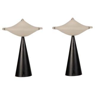 Vintage Italian Tre Ci/Luce Alien Lamps, designer Cesaro L., circa 1975