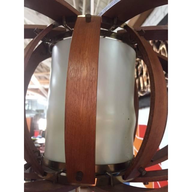 Vintage Bent Wood Wall Mounted Lamp - Image 5 of 6