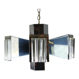 1970s Space Age Chrome Chandelier