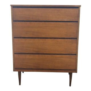 Bassett Mid-Century Modern Highboy Dresser
