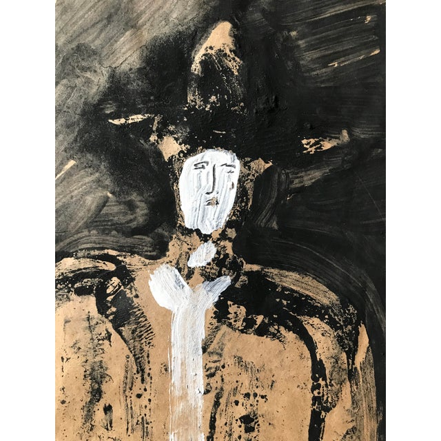 """1968 Jack Hooper """"Man With Hat"""" Painting - Image 7 of 8"""