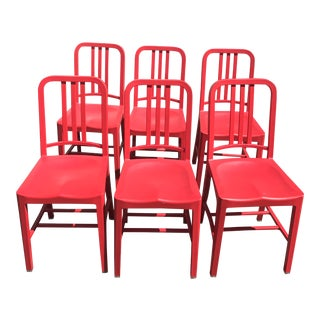 Emeco & Coca Cola Red Dining Chairs
