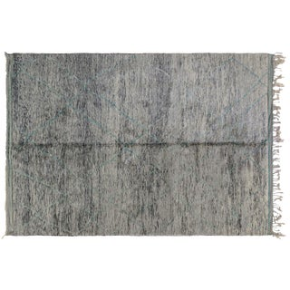 Moroccan Turquoise Accent Rug - 8′6″ × 12′1″