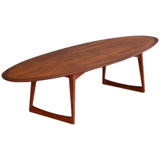 Grete Jalk Attributed for Moreddi Teak Surfboard Coffee Table