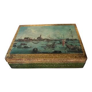 Vintage Florentine Nautical Wooden Box