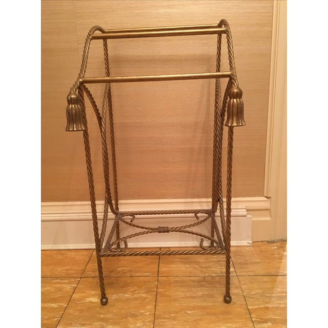 Metal Towel Rack With Tassels - Image 2 of 4