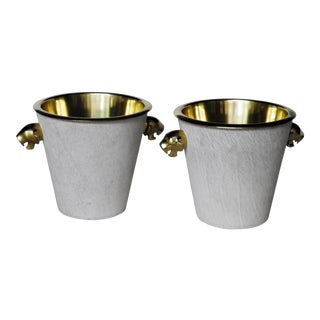Hollywood Regency Style Wine Coolers - A Pair