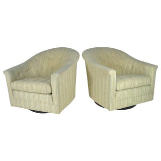 1950s Modern Swivel Lounge Chairs - A Pair