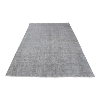 Distressed Muted Turkish Floral Rug - 7′3″ × 11′5″