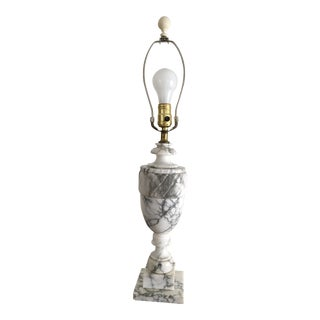 Carved Urn Marble Table Lamp