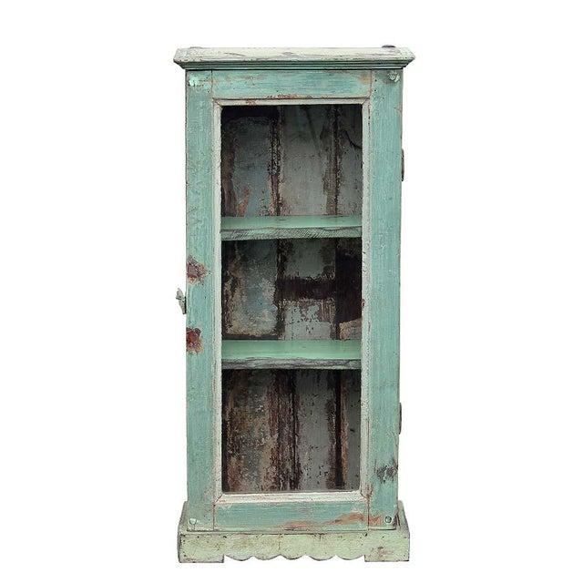 Image of 3-Shelf Pistachio Cabinet