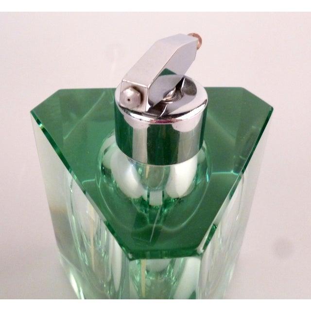 Green Tinted Crystal Perfume Bottle Chairish