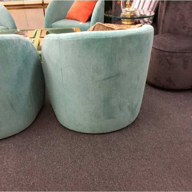 Mid-Century Modern Turquoise Chairs - Set of 2 - Image 4 of 5