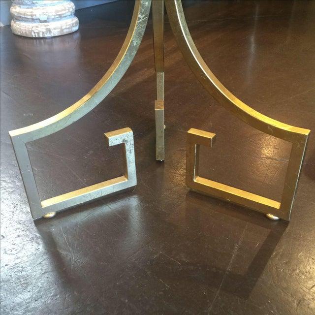 Greek Key Motif Gold Side Table - Image 6 of 6