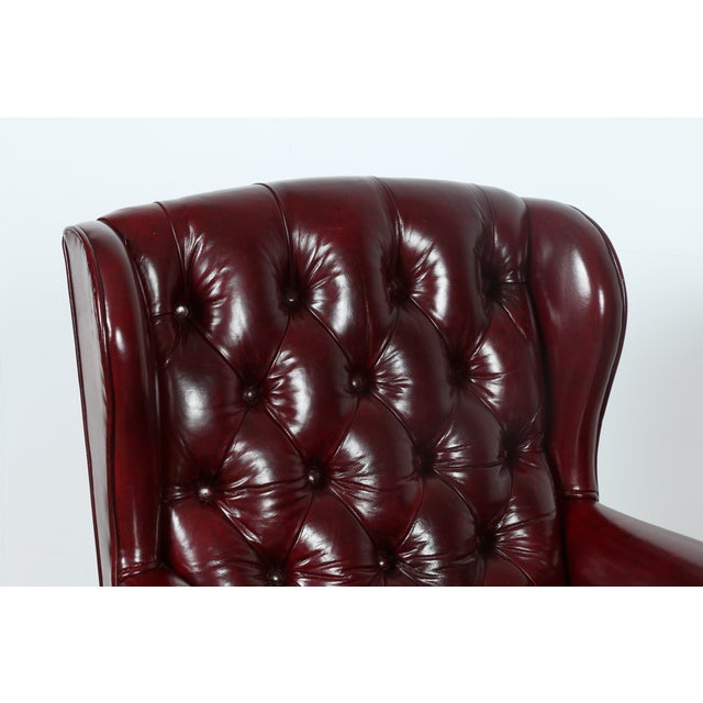 Schaffer Bros Burgundy Leather Chairs - A Pair - Image 11 of 11