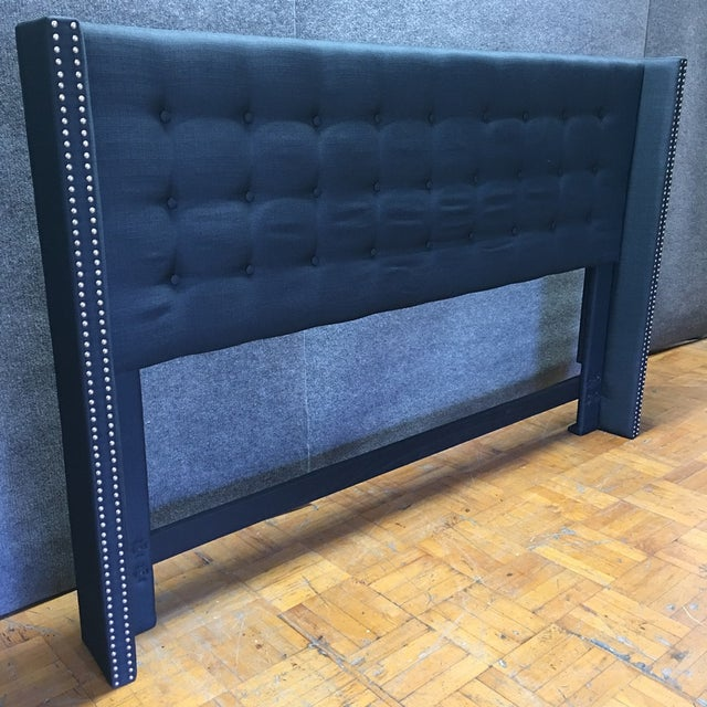 Navy Wingback California King Headboard - Image 2 of 7