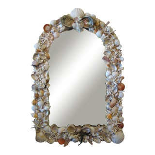 Arch Shaped Shell Wall Mirror