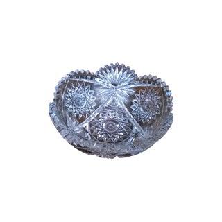 Pitkin & Brooks Crystal Cut Glass Decorative Bowl