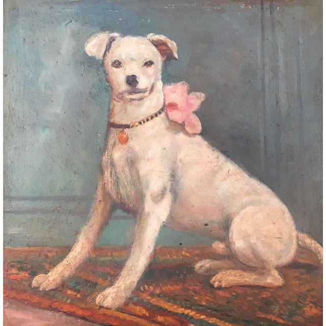 Vintage Tray with Portrait Painting of a Dog - Image 4 of 5