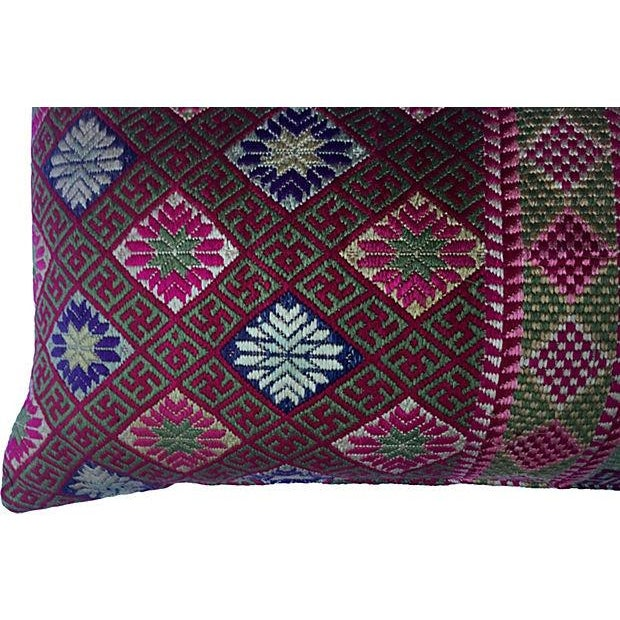 Double Happiness Silk Wedding Quilt Pillow - Image 4 of 7
