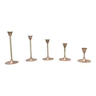 Brass Candle Sticks - Set of 5