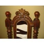 Image of Berkey & Gay Jacobean Cane & Cowhide Arm Chair