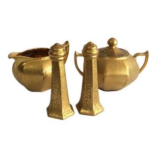 Gold Embossed Bavarian Tableware