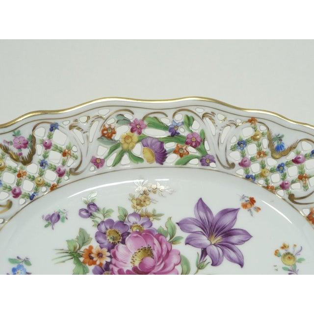 Vintage Porcelain Schumann Dresden Flowers Dish - Image 5 of 8