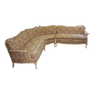 Fabulous French Style Tufted Three-Piece Sectional