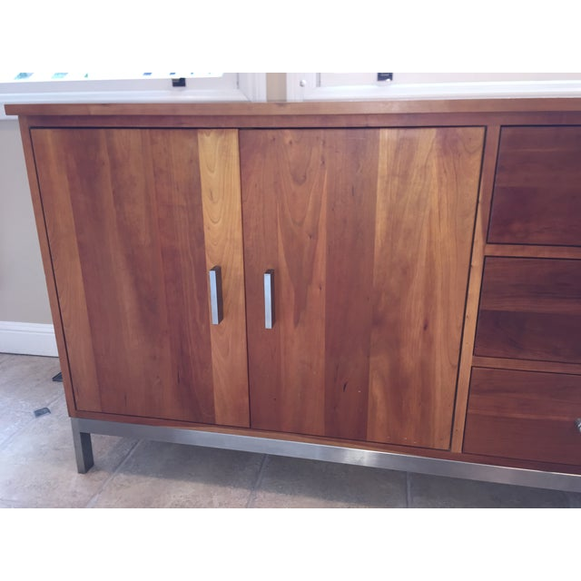 Room & Board Cherry Wood Custom Credenza - Image 5 of 10