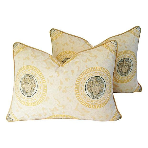 Custom Italian Versace-Style Medusa Pillows - Pair - Image 9 of 9