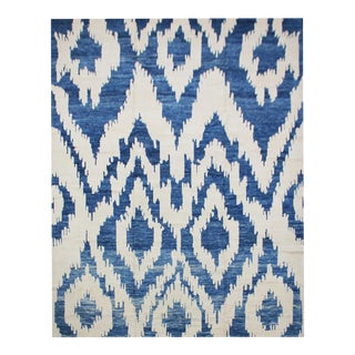 """Aara Rugs Inc. Hand Knotted Ikat Rug - 7'9"""" X 9'11"""""""