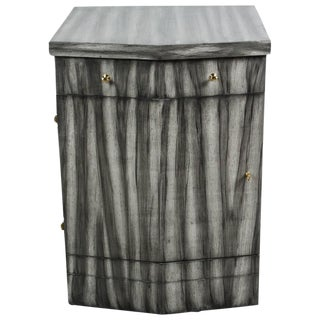 Customizable Paul Marra Pinnacle Nightstand in Zebra Finish