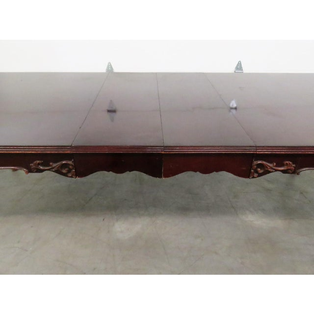 French provincial mahogany carved dining table chairish