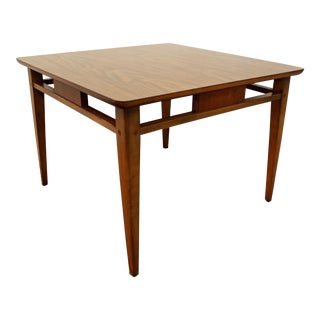 Lane Mid-Century Danish Modern Laminate Top Walnut End/Side Table