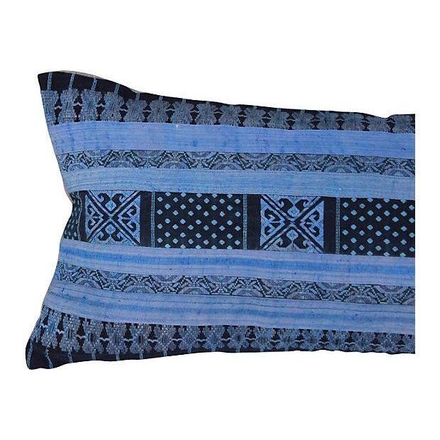 Silk Hill Tribe Indigo Textile Pillow - Image 2 of 5