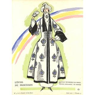 1922 French Spring Coat Pochoir