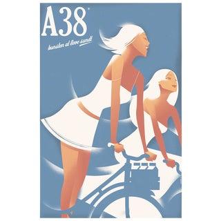 Contemporary Mads Berg Biking Girls A38 Poster